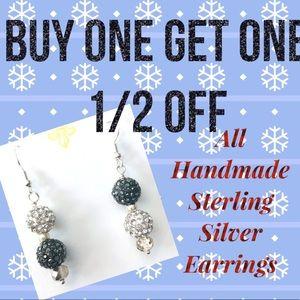 HURRY! Buy 1/Get 1 Half off Sterling S. Earrings